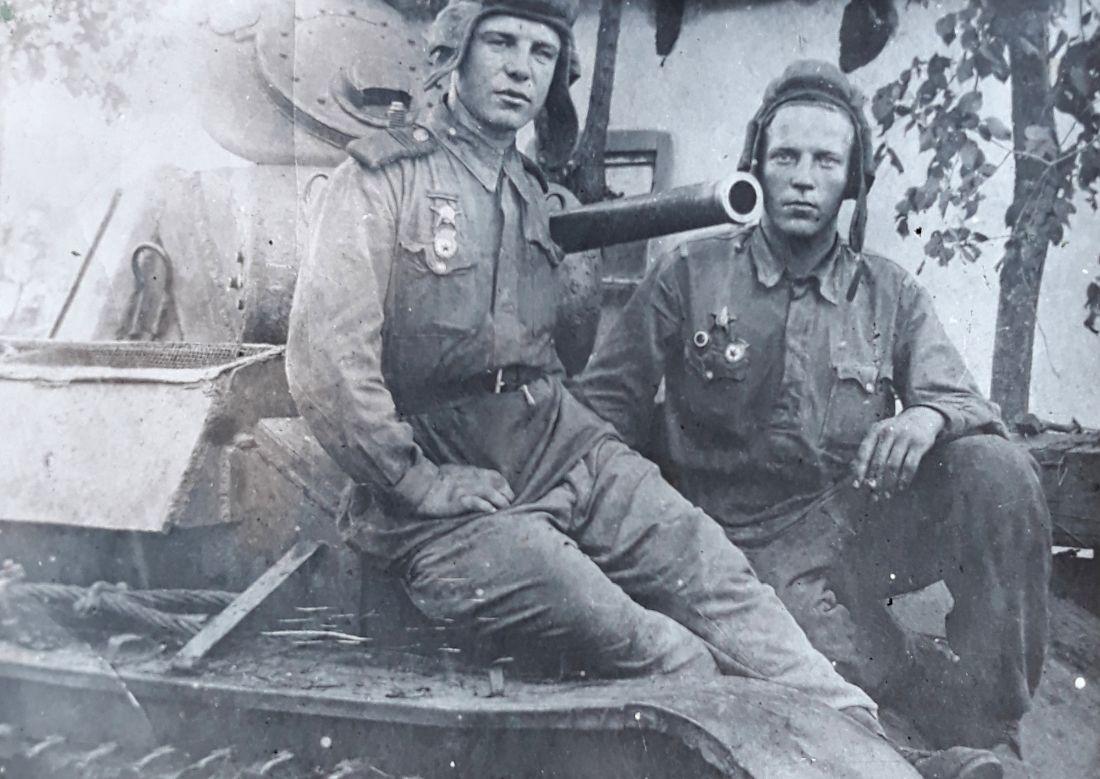 Геймор Павел Филимонович,  после боя, 1942 год